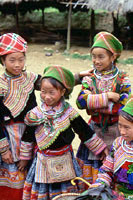 Flower Hmong girls, Vietnam